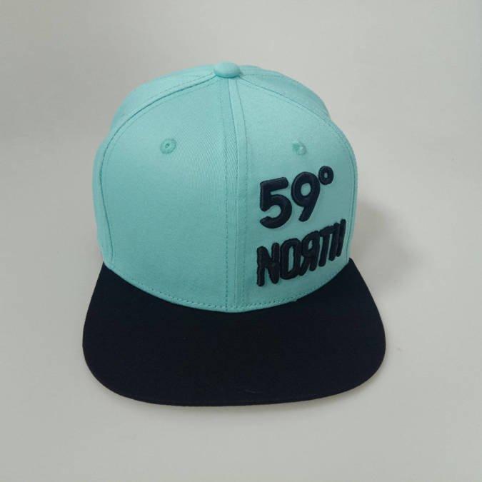 59 North Wheels - Snapback turkusowo-czarny