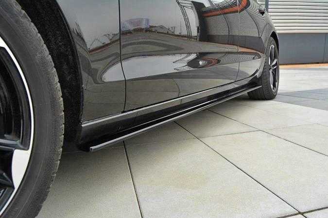Dokładki progów Maxton Audi A6 C7 (czarny mat)
