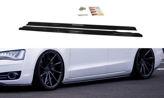 Dokładki progów Maxton Audi A8 D4 (czarny połysk)