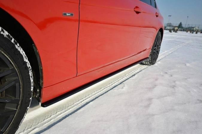 Dokładki progów Maxton BMW 3 F30 (czarny mat)