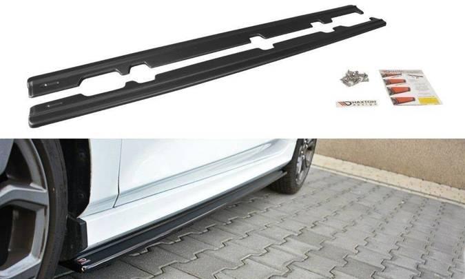Dokładki progów Maxton Ford Fiesta MK8 ST/ ST-Line (carbon look)