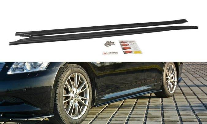 Dokładki progów Maxton Infiniti G37 Sedan (czarny mat)