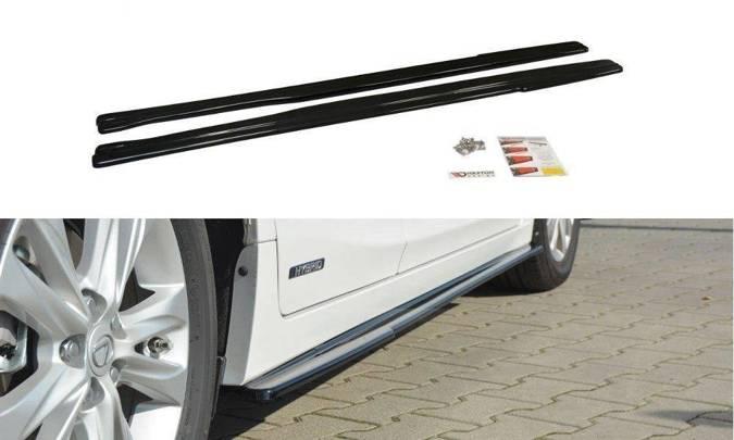 Dokładki progów Maxton Lexus CT MK1 Polift (czarny połysk)
