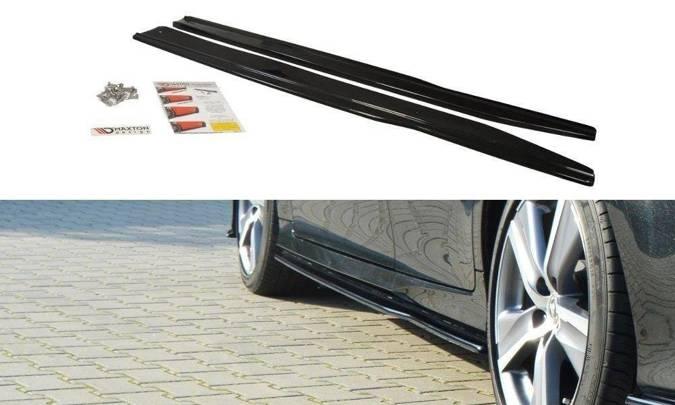 Dokładki progów Maxton Lexus GS MK4 Polift (czarny mat)