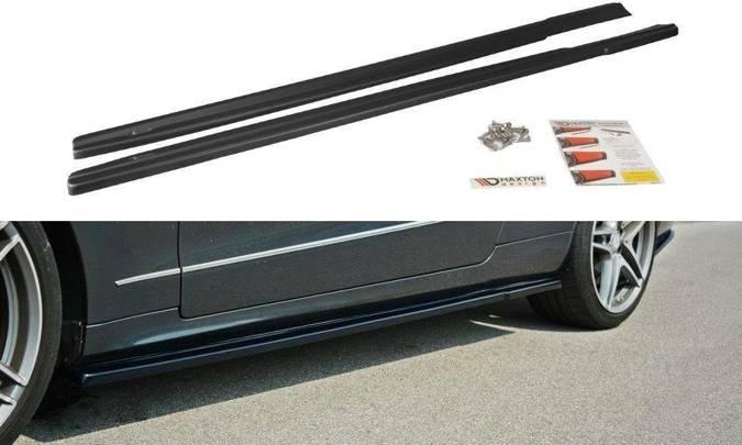 Dokładki progów Maxton Mercedes E W212 (czarny połysk)