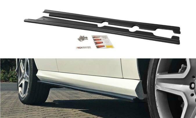 Dokładki progów Maxton Mercedes GLE W166 AMG-Line (czarny połysk)