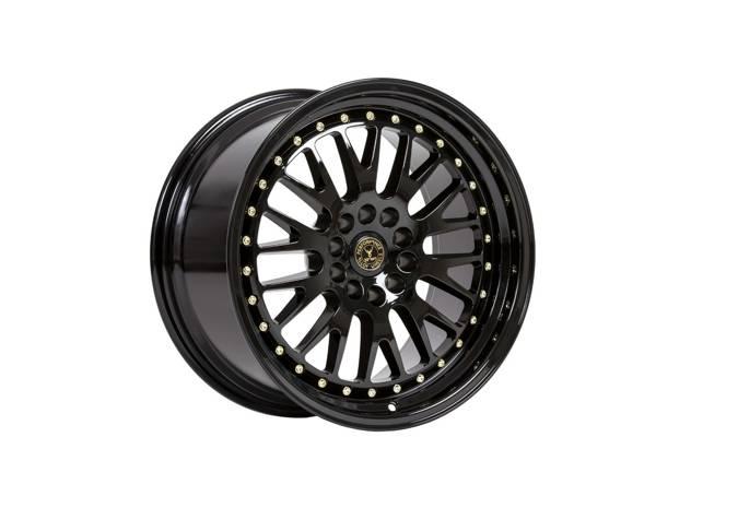 "Felgi aluminiowe 18"" 59 North Wheels D-003 18x9,5 ET20 5x114,3/120 Gloss black/gold rivets"