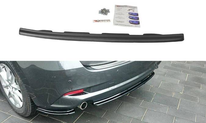 Splitter tylny srodkowy Maxton Mazda 3 BM (MK3) Polift (bez dyfuzora) (carbon look)