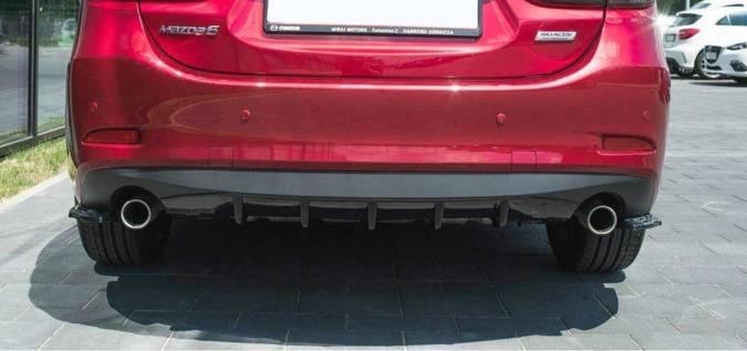 Splittery tylne boczne Maxton Mazda 6 GJ (MK3) Polift (carbon look)